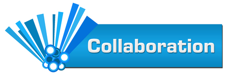 Collaboration Blue Graphical Horizontal