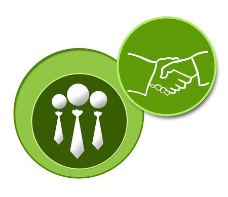Association Green Three Circles Stock Photo