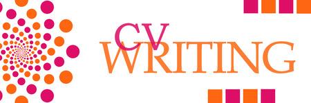 CV Writing Pink Orange Dots Horizontal