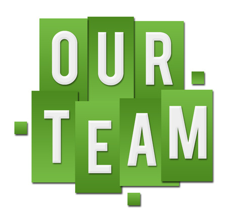 our: Our Team Green Stripes Square