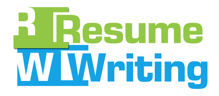 Resume Writing Green Blue Abstract Stripes