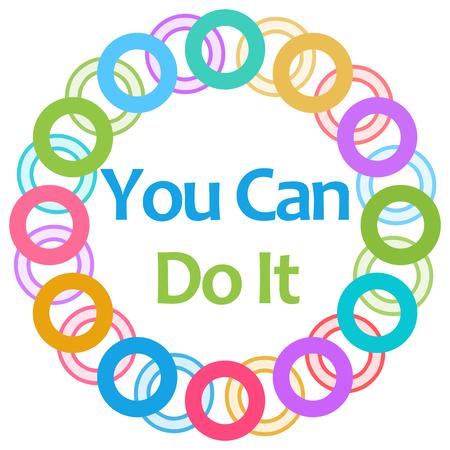 You Can Do It Colorful Rings Circular Zdjęcie Seryjne