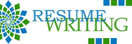 Resume Writing Green Blue Circular Stock Photo