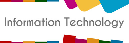 Information Technology Colorful Abstract Background