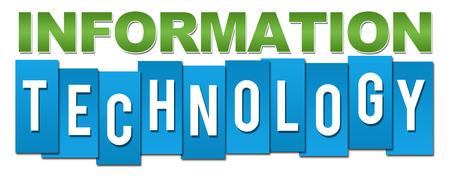 Information Technology Green Blue Stripes