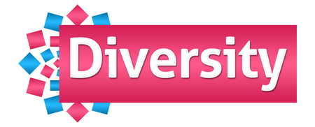 Diversity Pink Blue Circular Horizontal