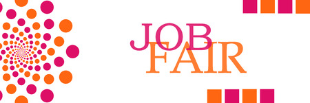 Job Fair Pink Orange Dots Horizontal