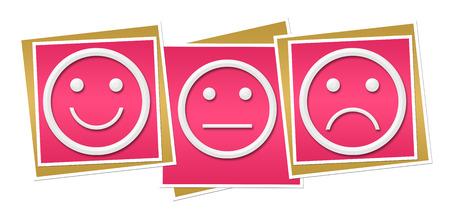 Smile Neutral Sad Pink Blocks