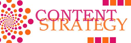 Content Strategy Pink Orange Dots Horizontal