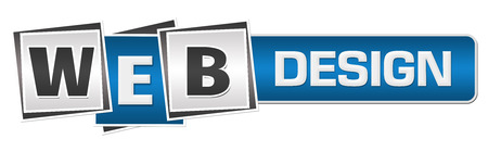 domains: Web Design  Blue Grey Squares Bar