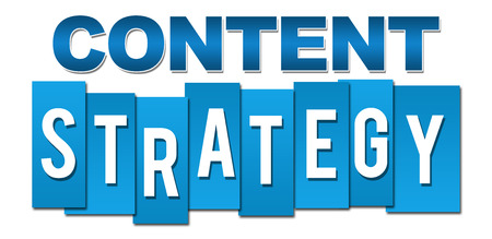 Content Strategy Blue Stripes