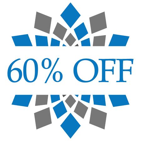 Discount 60 Percent Off Blue Grey Circular