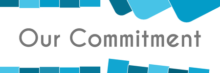 our: Our Commitment Blue Abstract Background