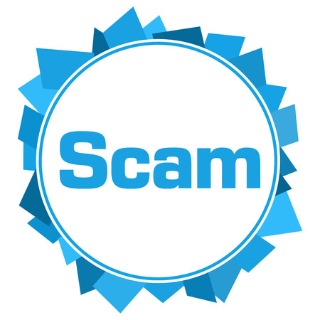 Scam Blue Circular Abstract Background Stock Photo