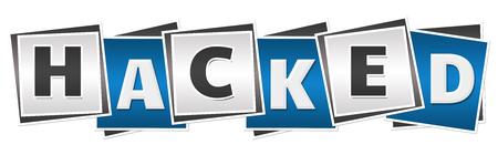 hacked: Hacked Blue Grey Blocks