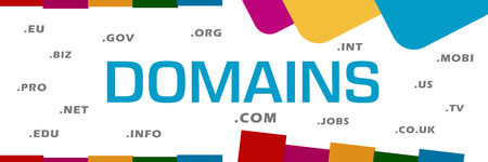 domains: Domains Word Cloud Abstract Colorful Background