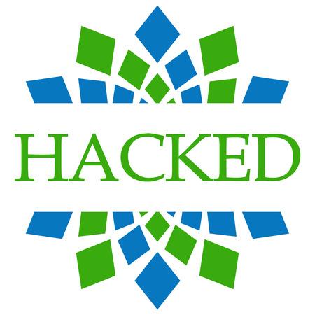hacked: Hacked Green Blue Circular