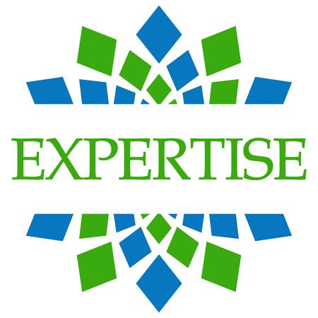 expertise: Expertise Green Blue Circular Stock Photo