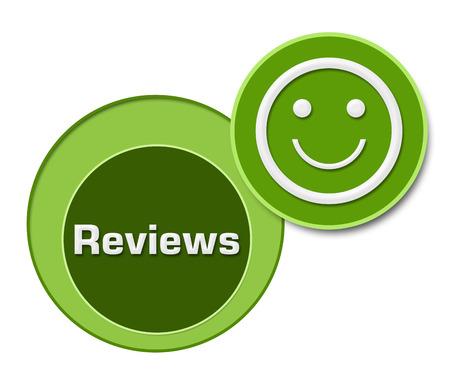 reviews: Reviews Green Three Circles Stock Photo