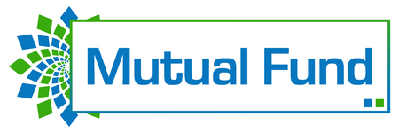 diversified: Mutual Fund Green Blue Circular Bar Stock Photo