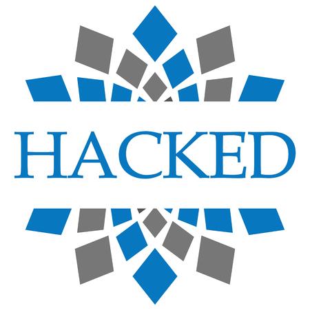 hacked: Hacked Blue Grey Circular