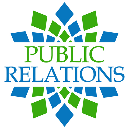 relaciones publicas: Public Relations Green Blue Circular