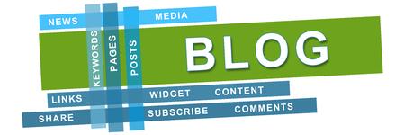 Blog Green Blue Stripes Banner