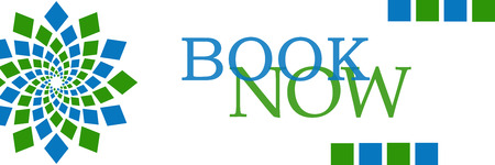 Book Now Green Blue Circular Horizontal