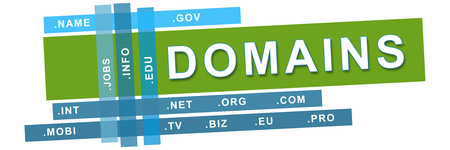 domains: Domains Blue Green Stripes Banner Stock Photo