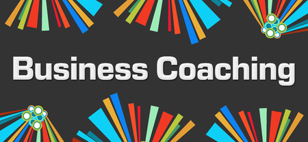 competences: Business Coaching Dark Colorful Background