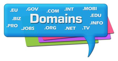 domains: Domains Word Cloud Colorful Comment Symbol