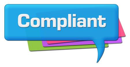 compliant: Compliant Colorful Comment Symbol Stock Photo