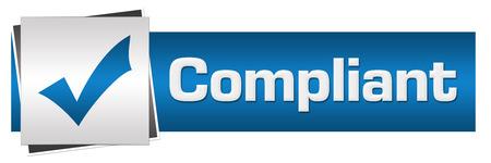 compliant: Compliant Blue Grey Horizontal