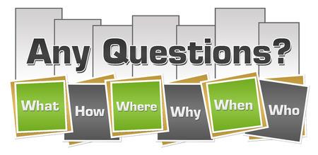 모든 질문 녹색 회색 사각형 줄무늬
