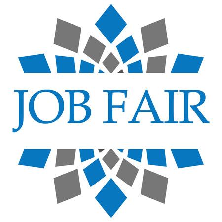 listings: Job Fair Blue Grey Circular Stock Photo