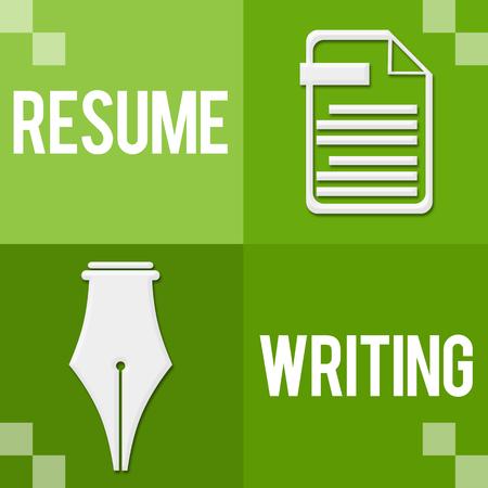 Resume Writing Green Four Blocks