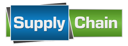 Supply Chain Green Blue Horizontal Stock Photo