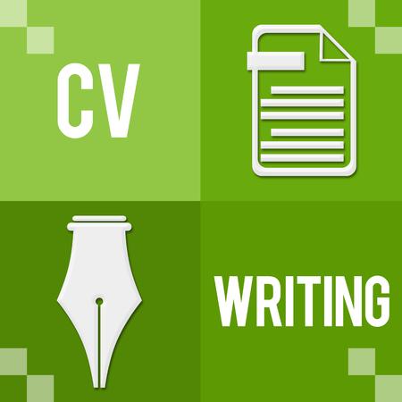 CV Writing Green Four Blocks
