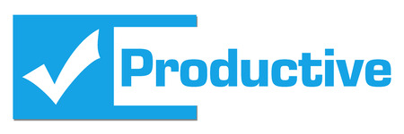 productive: Productive Blue Abstract Bar