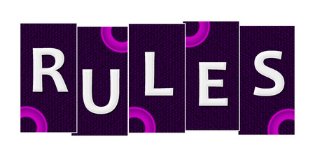 compliant: Rules Purple Pink Rings Horizontal