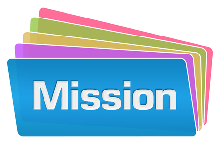 Mission Colorful Squares Stack Stock Photo