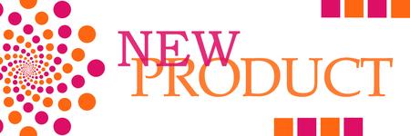 Neues Produkt Rosa Orange Kreisförmig Horizontal
