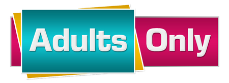 explicit: Adults Only Turquoise Pink Horizontal