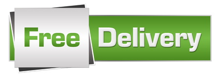 e commerce: Free Delivery Green Grey Horizontal