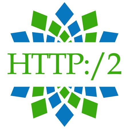 HTTP 2 Green Blue Circular