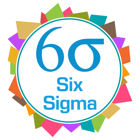 Six Sigma Colorful Random Shapes Circle Banco de Imagens