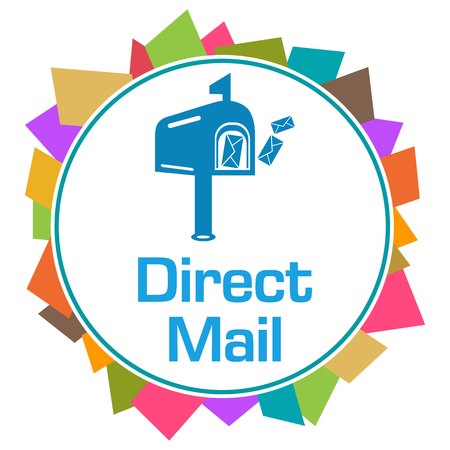 Direct Mail Colorful Random Shapes Circle 版權商用圖片