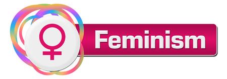 Feminism Colorful Rings Circular Bar
