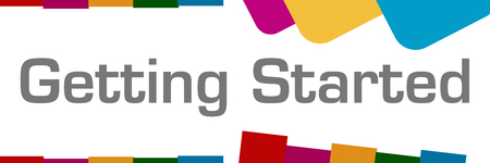 Getting Started Abstract Colorful Shapes Horizontal