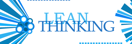 Lean Thinking Blue Graphics Horizontal